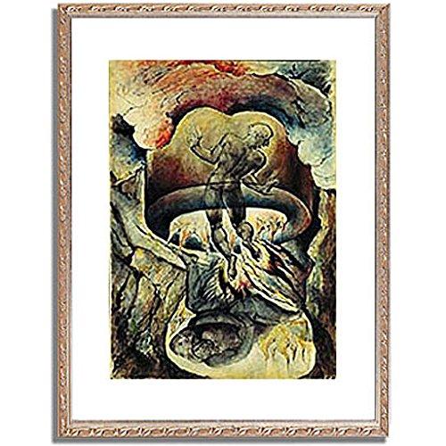 ウィリアムブレイク「Gesang der Holle. Aus der Zeichenfolge zu Dantes gottlicher Komodie. 」 インテリア アート 絵画 プリント 額装作品 フレーム:装飾(銀) サイズ:L (412mm X 527mm) B00NKTIMNK 3.L (412mm X 527mm)|5.フレーム:装飾(銀) 5.フレーム:装飾(銀) 3.L (412mm X 527mm)