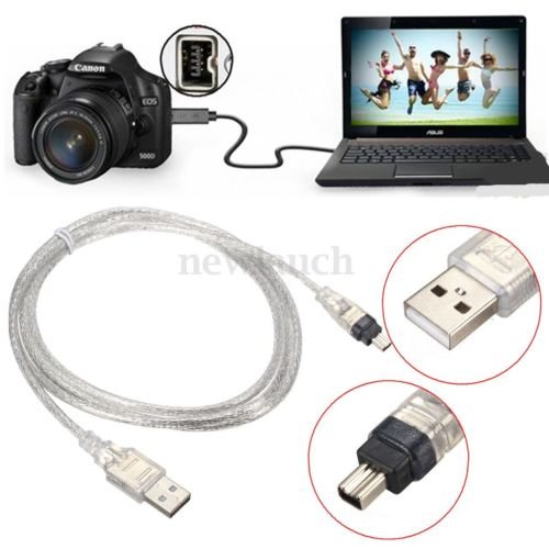 1.5m Usb 2.0 Male To Firewire Ieee 1394 4 Pin Male Ilink Cable - 1