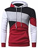 CIC Collection Men's Hooded Pullover Color Block Sweatshirt