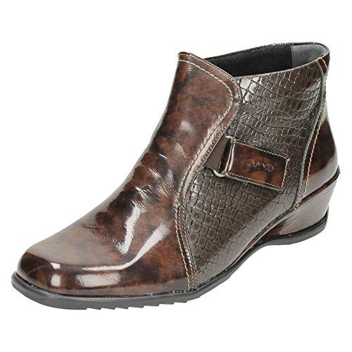 Suave - Sandales compensées pour femmes brunes