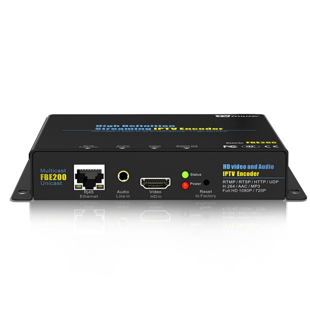 FMUSER H.264 Live HDMI Video Encoder, Full 1080p RTMP IPTV Encoder, Live Stream Broadcast on Facebook Youtube Ustream Wowza Streaming Platforms by fmuser (Image #2)