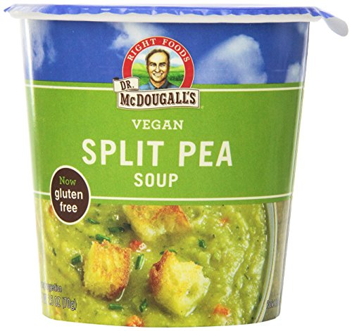 Dr. McDougall's Right Foods Vegan Split Pea Soup Gluten Free, 2.5-Ounce Cups (Pack of 6)