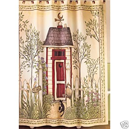 Outhouse Shower Curtain By Linda Spivey