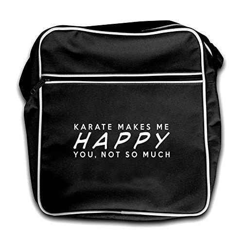 Me Black Bag Much Retro Not Flight So Makes Happy You Karate RfxZwTCqf
