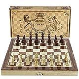 "Chess Set 12""x12"" Folding Wooden Standard Travel International Chess Game Board Set"