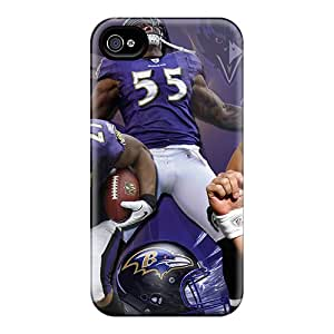Shock Absorption Hard Phone Cases For Iphone 6plus With Customized High-definition Baltimore Ravens Pattern TimeaJoyce