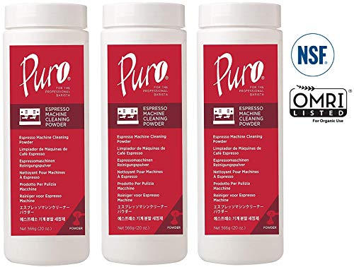 Professional Cleaning – PuroCaff Espresso Machine Powder – 60 Ounces (3 X 20 Oz Jars)