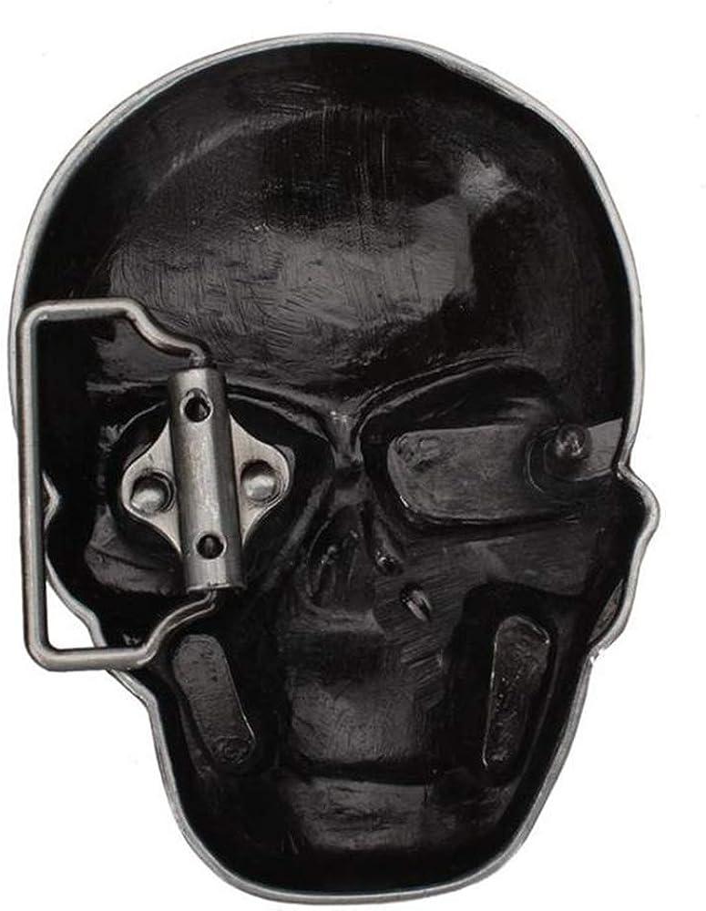 HTMP-HS Ceinture De Personnalité Pour Homme Crâne Crâne Tête Fantôme Grande Boucle De Ceinture Spectacle Performance Ceinture Décoration Ceinture Style Punk H