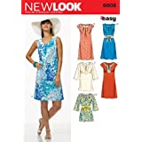 New Look Sewing Pattern 6803 Misses' Dresses, Size A (10-12-14-16-18-20-22)