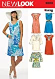 New Look Sewing Pattern 6803 Misses Dresses, Size A (10-12-14-16-18-20-22)