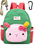 Toddler Backpack Cotton Cat Preschool with Harness Leash for Neutral (Green)