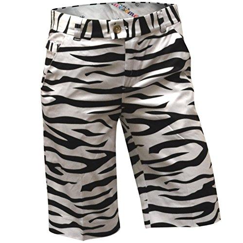 Royal & Awesome Women's Golf Shorts, Zebra to Ze/Bar, US 2/UK 6