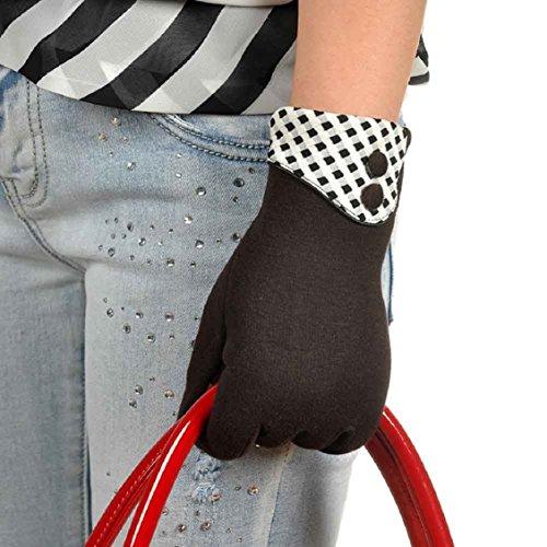 Guantes calientes para Mujeres,Ouneed ® Pantalla de táctil de muñeca caliente de invierno guantes mitones marrón