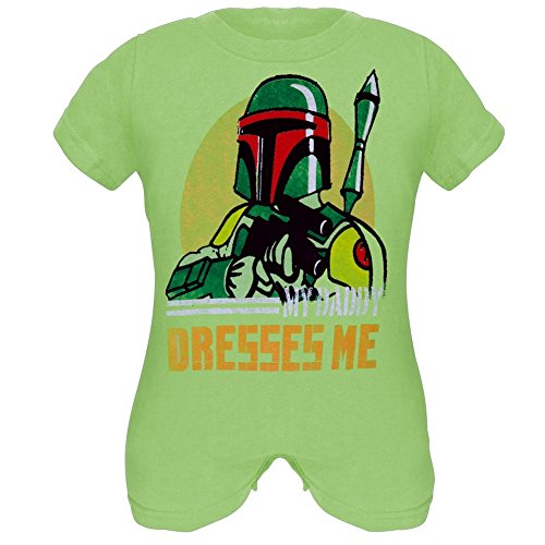 Star Wars - Baby Boys Boba Fashion Infant Romper - 12 month Green