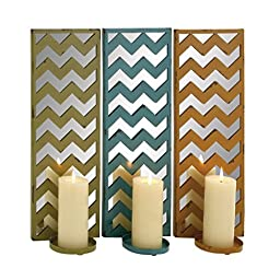 Benzara The Stunning Metal Mirror Candle Sconce Assorted, Set of 3