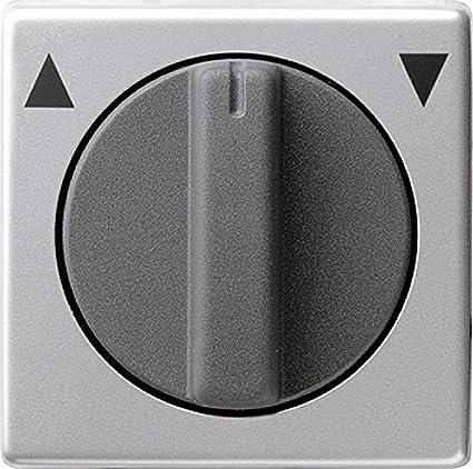 Gira 0666203 - Embellecedor para interruptor de persianas Gira E22 (aluminio)