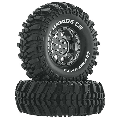 (Duratrax Deep Woods RC Rock Crawler Tires with Foam Inserts, C3 Super Soft Compound, High Traction, 1.9