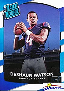 Deshaun Watson 2017 Donruss #345 Rated Rookie ROOKIE Card MINT Condition! Shipped in Ultra Pro Top Loader to Protect It! Houston Texans Superstar Quarterback top NFL Draft Pick!  WOWZZER!