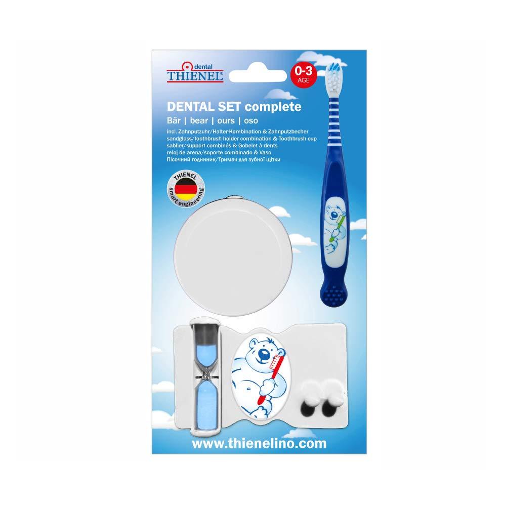bleu 1 x bo/îte /à dents, 1 x support, 1 brosse /à dents, 1 x gobelet DENTAL Set complet ourson b/éb/éOtto