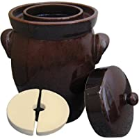 Original K & K Pot de fermentation Form II pour choucroute avec couvercle et de la pierre 5.0 liters