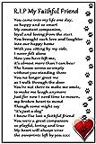 Dog Bereavement Gift Magnet - RIP My Faithful Friend - dog loss, sympathy, memorial Flexible Magnet 6 x 4 by Fridge Magnets