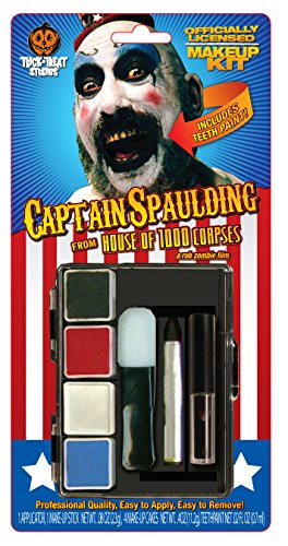 House 1000 Corpses Costumes - Trick or Treat Studios Men's House Of 1 000 Corpes-Captain Spaulding Makeup Kit, Multi, One Size