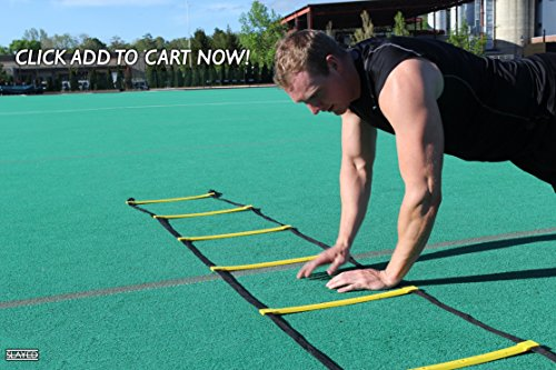 Slayed Sports AGILITY LADDER (15FT) by Workout Equipment Includes Metal Pegs, Carry Bag, and BONUS E-book with Video of Agility Drills and Athletic Development Tips | by Slayed Sports (Image #6)