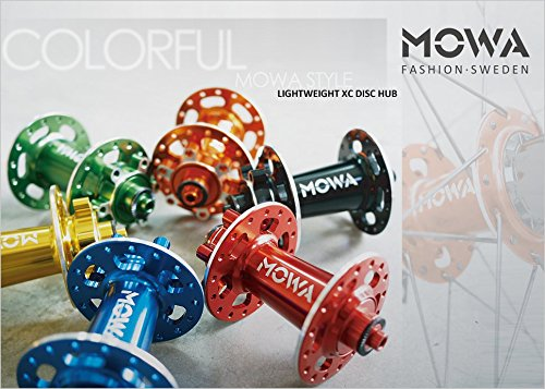 Mowa Mountain Cycling Bike Disc Brake Rotor Front Rear Hub 32H for Shimano マウンテンバイクディスクブレーキ用 フロント リヤ ハブ [並行輸入品] B07DLTKKY4 Rear|Orange Orange Rear