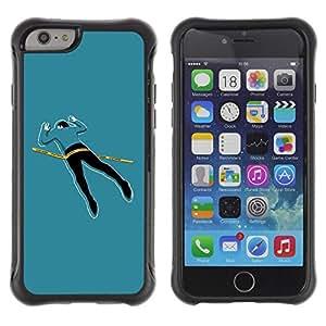 Suave TPU GEL Carcasa Funda Silicona Blando Estuche Caso de protección (para) Apple Iphone 6 PLUS 5.5 / CECELL Phone case / / Funny Crime Scene Body /