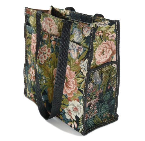 small City Tapestry Shopping Bag Moon Gobelin Style Tote Flower zwEEdg