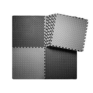 innhom 12/24 Tiles Gym Mat Exercise Mats Puzzle Foam Mats Gym Flooring Mat Interlocking Foam Mats with EVA Foam Floor…
