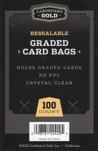 (1pk of 100) Cardboard Gold CBG GRADED Card Pro Sleeves Next Generation Archival Protection PRO Sleeves KEEPS GRADED Sports and Gaming Cards ULTRA PROTECTED by Cardboard Gold