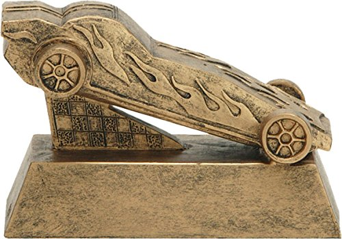 Decade Awards Pinewood Derby Trophy - Scouts Pinewood Racing Award - 6 Inch Tall - Engraved Plate on Request ()