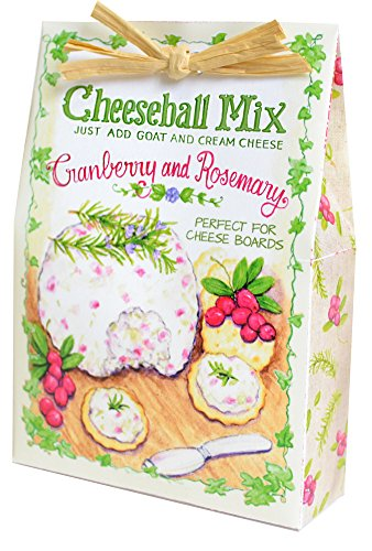 Cranberry and Rosemary 2.5 ounce All Natural Dry Ingredients Cheeseball Mix by Pelican Bay