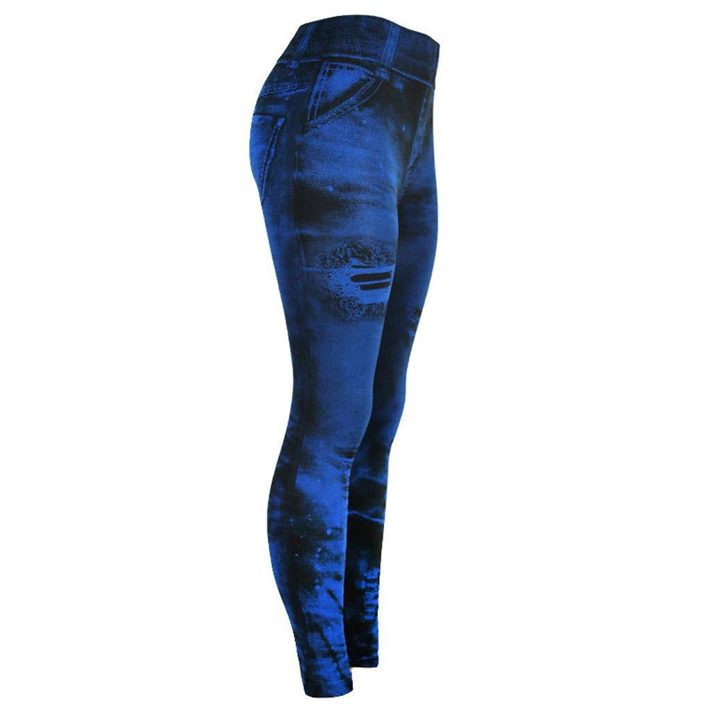 iHAZA Jeans Femme Pantalon Bas Couleur Hip-up Super Bomb Slim/ Pantalon de Neuf Minutes