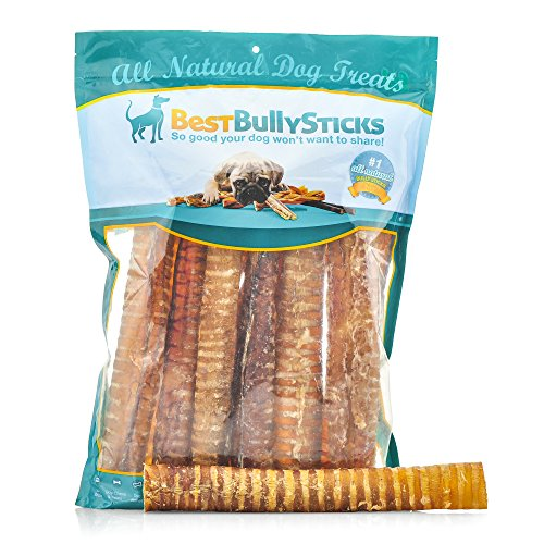 Best Bully Sticks 100% Natural 12-Inch Beef Trachea Dog Chews by (12 Pack)