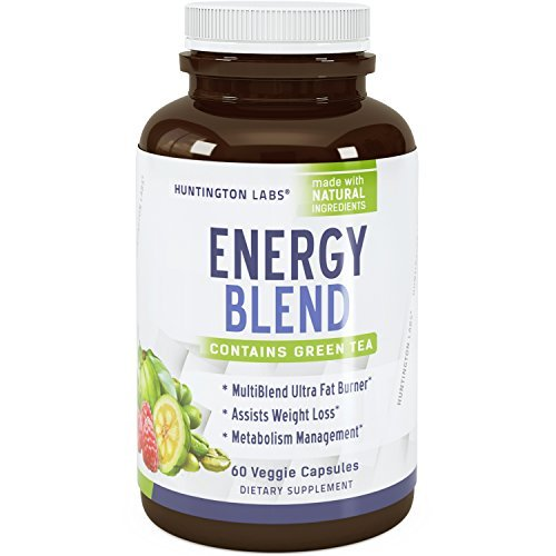 Extra Strength Energy Blend Appetite Suppressant / Fat Burner Made With Best Garcinia Cambogia HCA + Raspberry Ketones + Green Coffee Bean Extract + Green Tea Extract - Rapid Weight Loss Pills (Raspberry Ketones And Green Coffee Bean Extract Diet)