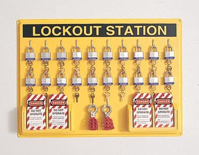 Complete Lockout Station Includes: -20 3D, -4 ELA290, -6 R60ML by North Safety