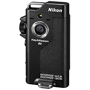 Nikon KeyMission 80 Full HD Action Camera with Built-In Wi-Fi + 32GB MicroSD Memory Card + Sport Case + Compact Power Grip + Card Reader + Mini Tripod & More