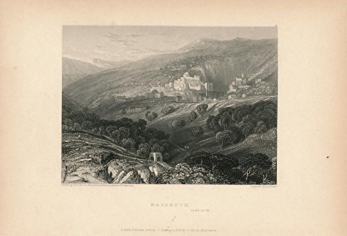 Ca Panoramic Map - Panoramic view of Nazareth Israel ca. 1835 engraved print
