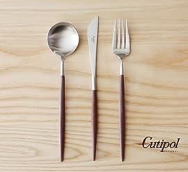 Cutipol Goa Brown/silver Series Home Dinner Flatware Cutlery Set of 3 Pcs, Spoon