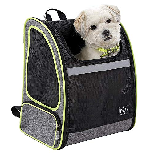 Petsfit Well Ventilated Sturdy Comfortable Pet Backpack Carrier for Hiking and Traveling Under 16...