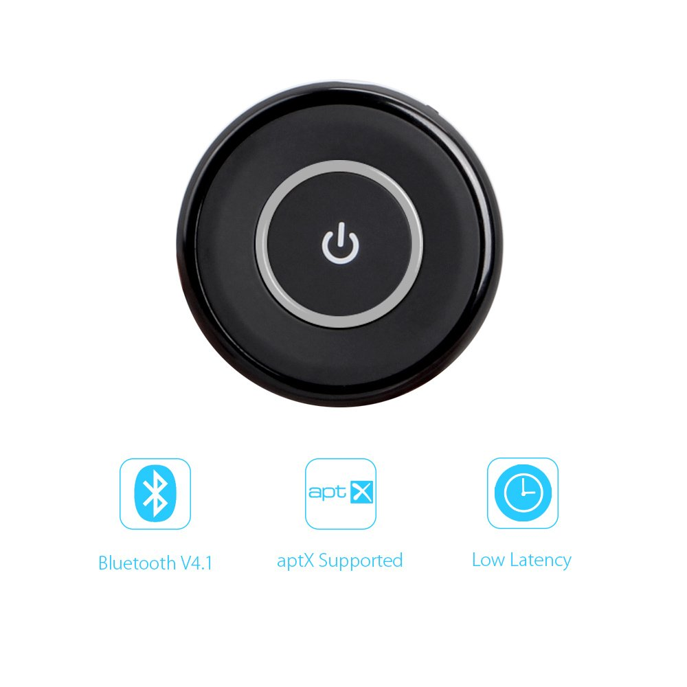 Megulla Bluetooth 4.1 Transmitter/Receiver, MG-BTTR100 2-in-1 Wireless 3.5mm Adapter (aptX Low Latency, Dual Stream to 2 Devices Simultaneously) for Car, Home Stereo, TV, PC, MP3 Player, CD Player