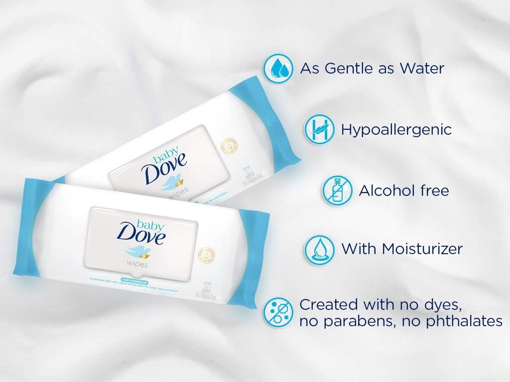 Toallitas húmedas Baby Dove hidratación profunda - Pack de 12 x 50: Total 600 toallitas: Amazon.es: Salud y cuidado personal