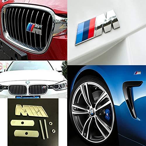 OEM SYSTEMS UG Adesivo 3D stemma emblema M SPORT Logo Decorazione per auto in Ottone di Qualità