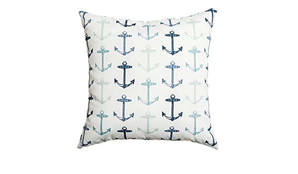 Softline Home Fashions Sunline Anchors Decorative Indoor Outdoor Throw Pillow Navy Inc 924anc40020xf Home Kitchen Bedding