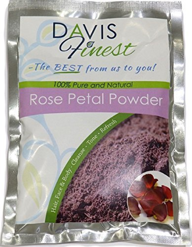 Davis Finest Rose Petal Powder - Pure Natural Rejuvenating Moisturising...