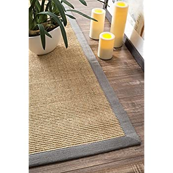 Amazon Com Natural Fiber Cotton Border Sisal Herringbone