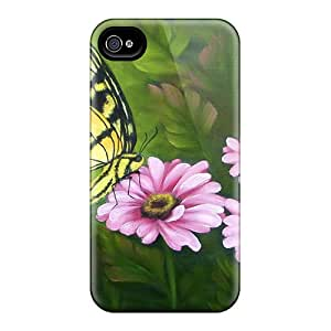 Pretty QaPCoOd11957KXDVU Iphone 4/4s Case Cover/ Butterfly Daisies Series High Quality Case