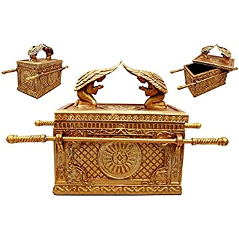 Aaron Rod, The Ark Of The Covenant Gold Plated with Ark Contents replica